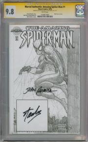 Amazing Spider-man #1 Authentix Variant CGC 9.8 Signature Series Signed Stan Lee Romita Sr Marvel